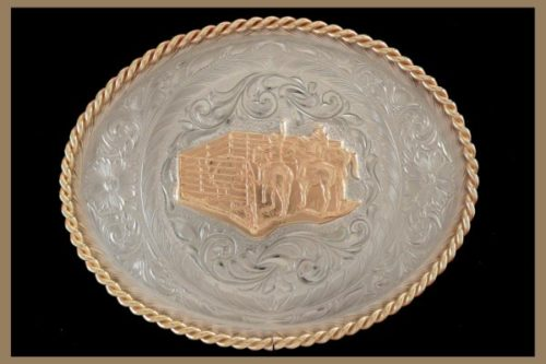 Custom belt buckle oval shaped with no letters