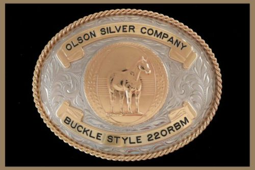 Custom Belt buckle oval shaped, bronze banners