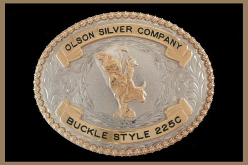 Custom Belt buckle oval shaped bronze banners