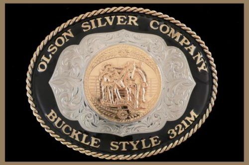 Custom Belt Buckle Colored Rim