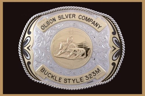 Custom belt buckle with Black accents