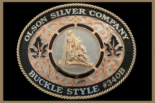 Custom Belt Buckle Copper Scrolls and black accents