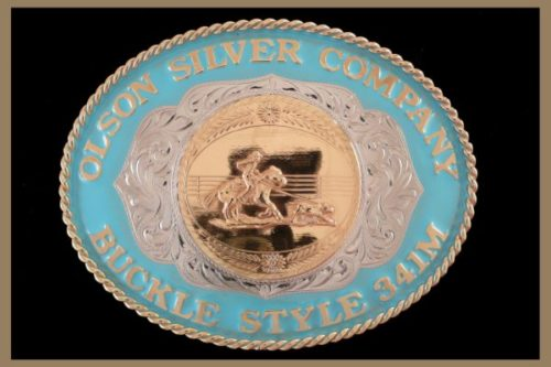 Custom belt Buckle Oval shaped with Colored rim