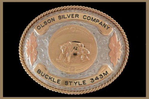 Custom Belt Buckle Copper Roses