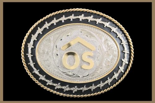 Custom Belt Buckle with Barb wire