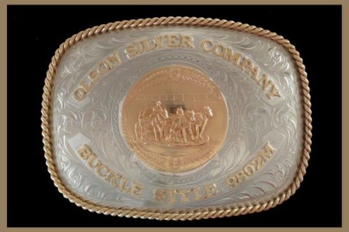 Custom trophy buckle