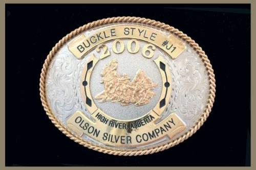 Custom belt Buckle Oval Shaped Bronze Accents