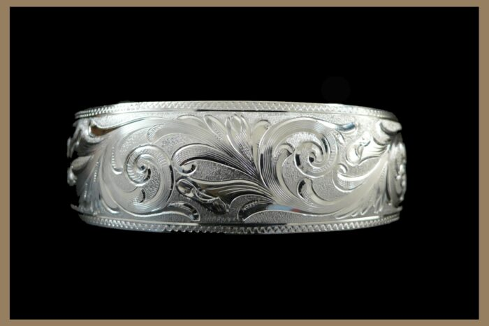 Hand Engraved Western Jewelry Silver Bracelet