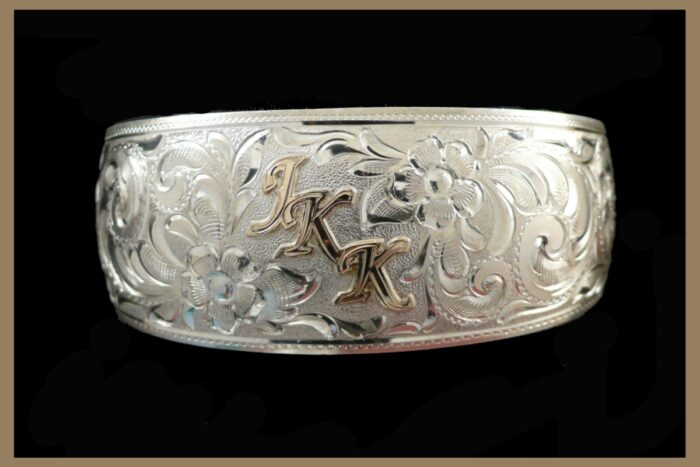 Hand Engraved Jewelry Bracelet with initials