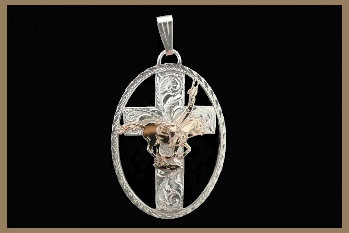 Western Jewelry Trick Rider Pendant