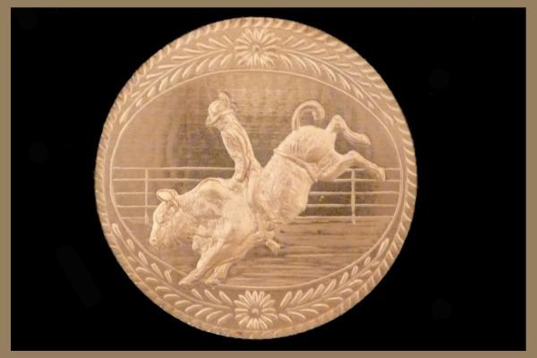 Bull Riding 1 Medallion