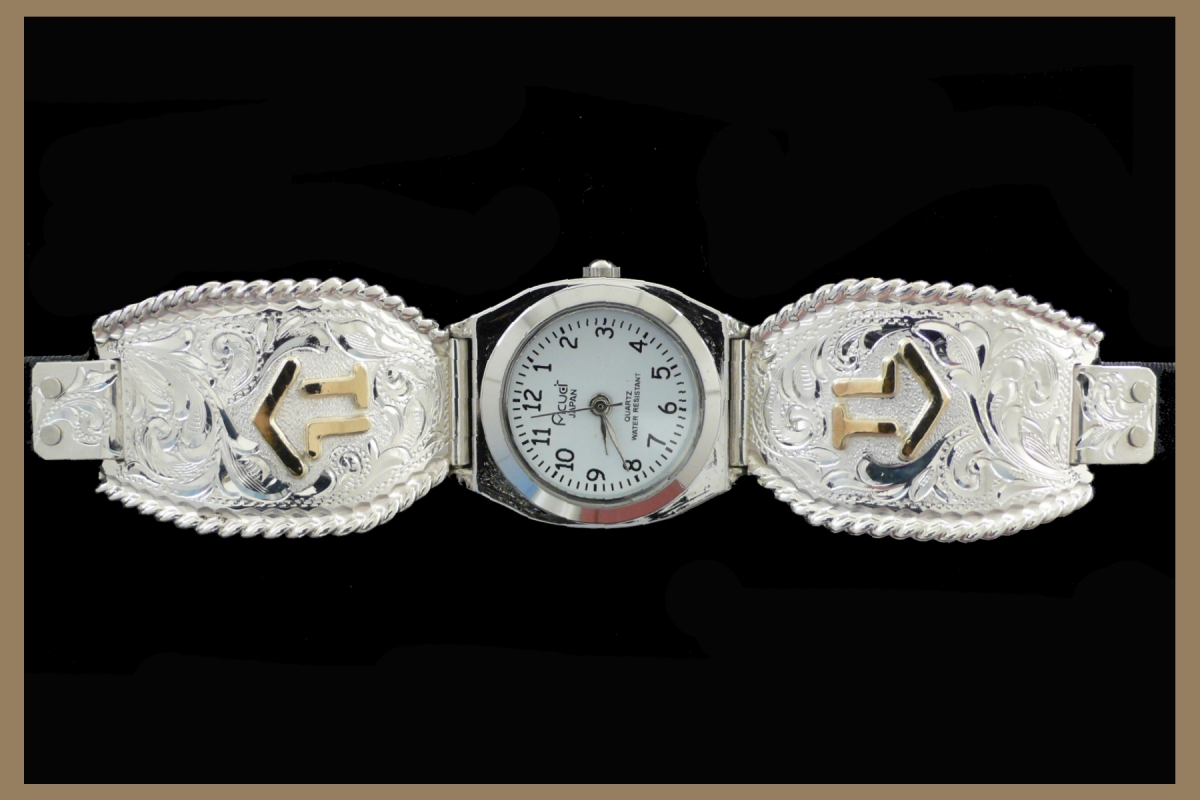 Hand Engraved Western Jewelry ladies watch with brand