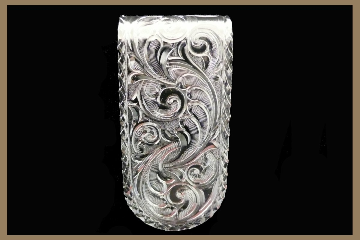 Hand Engraved moneyclip
