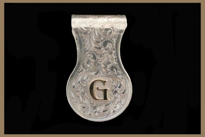 Hand Engraved Moneyclip with initial