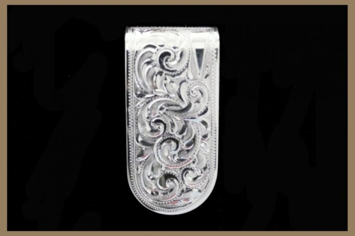 Hand Engraved Sterling Silver Moneyclip