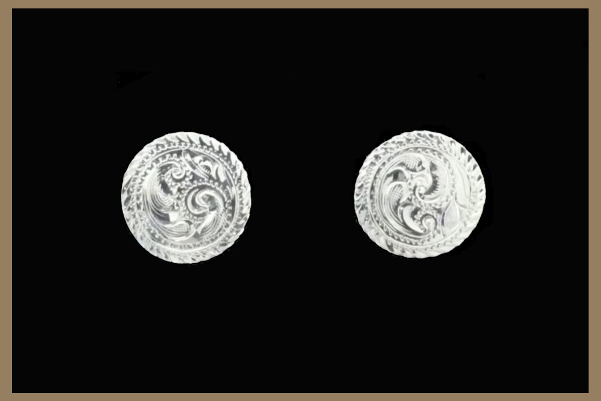Hand Engraved western earrings